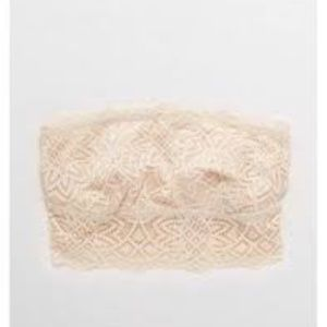 NWT Aerie Castaway Lace Longline Bandeau in Flax